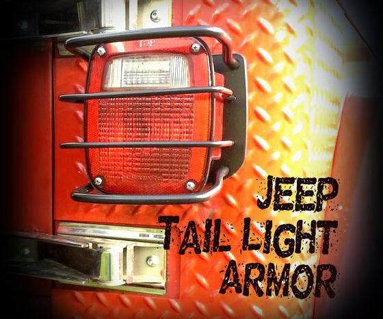 Jeep tail light armor