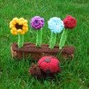 Amigurmi Ladybug and Flowers