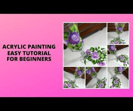 ACRYLIC PAINTING EASY TUTORIAL FOR BEGINNERS