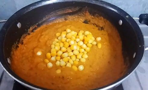 Add Boiled Sweet Corn