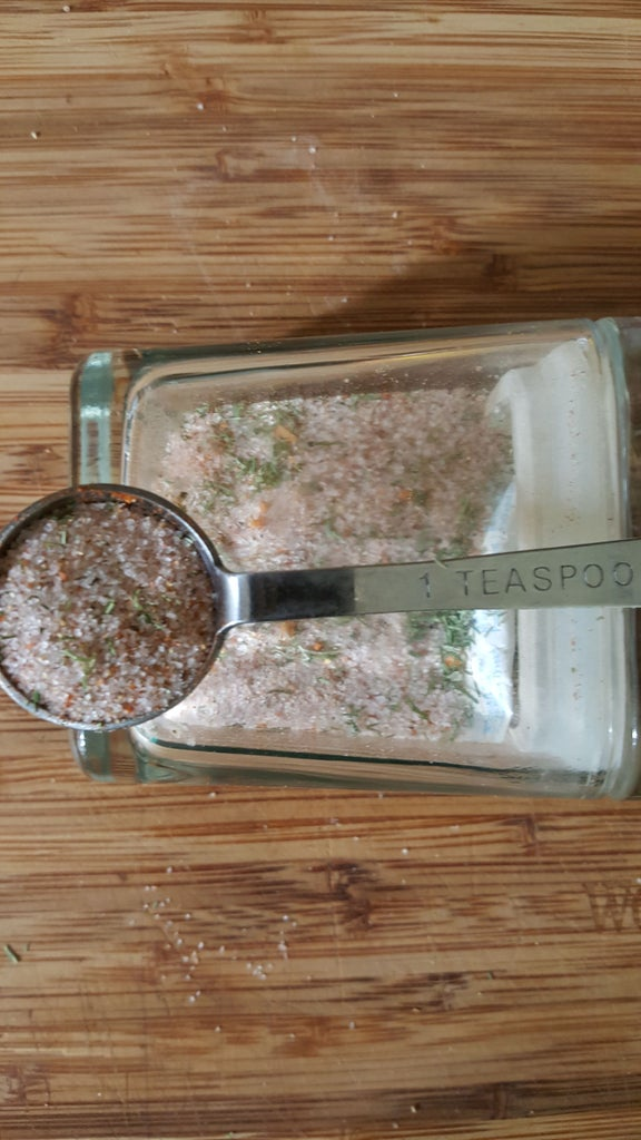 Seasoned Salt for Fish and Pastas While Camping