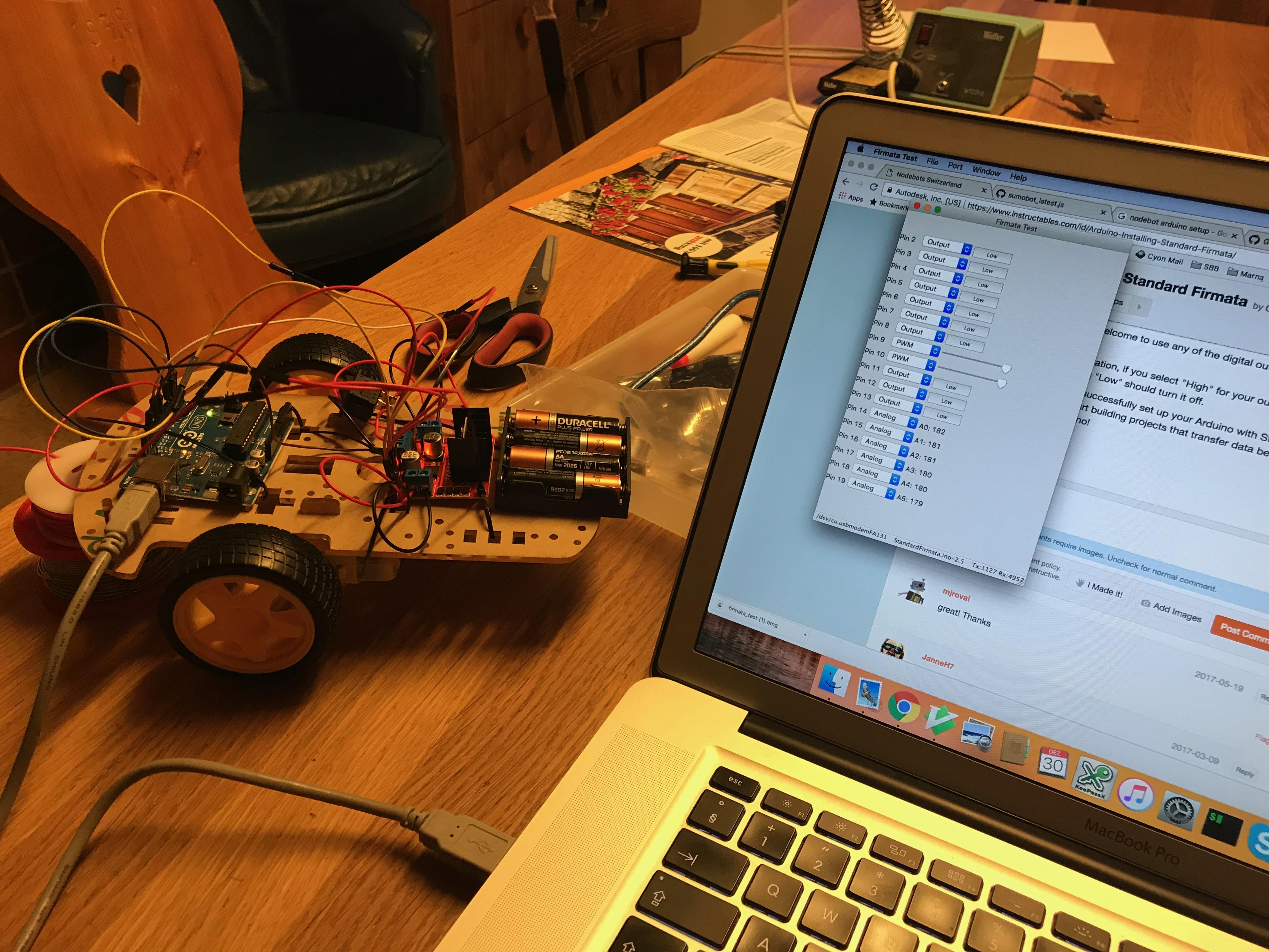 Arduino: Installing Standard Firmata