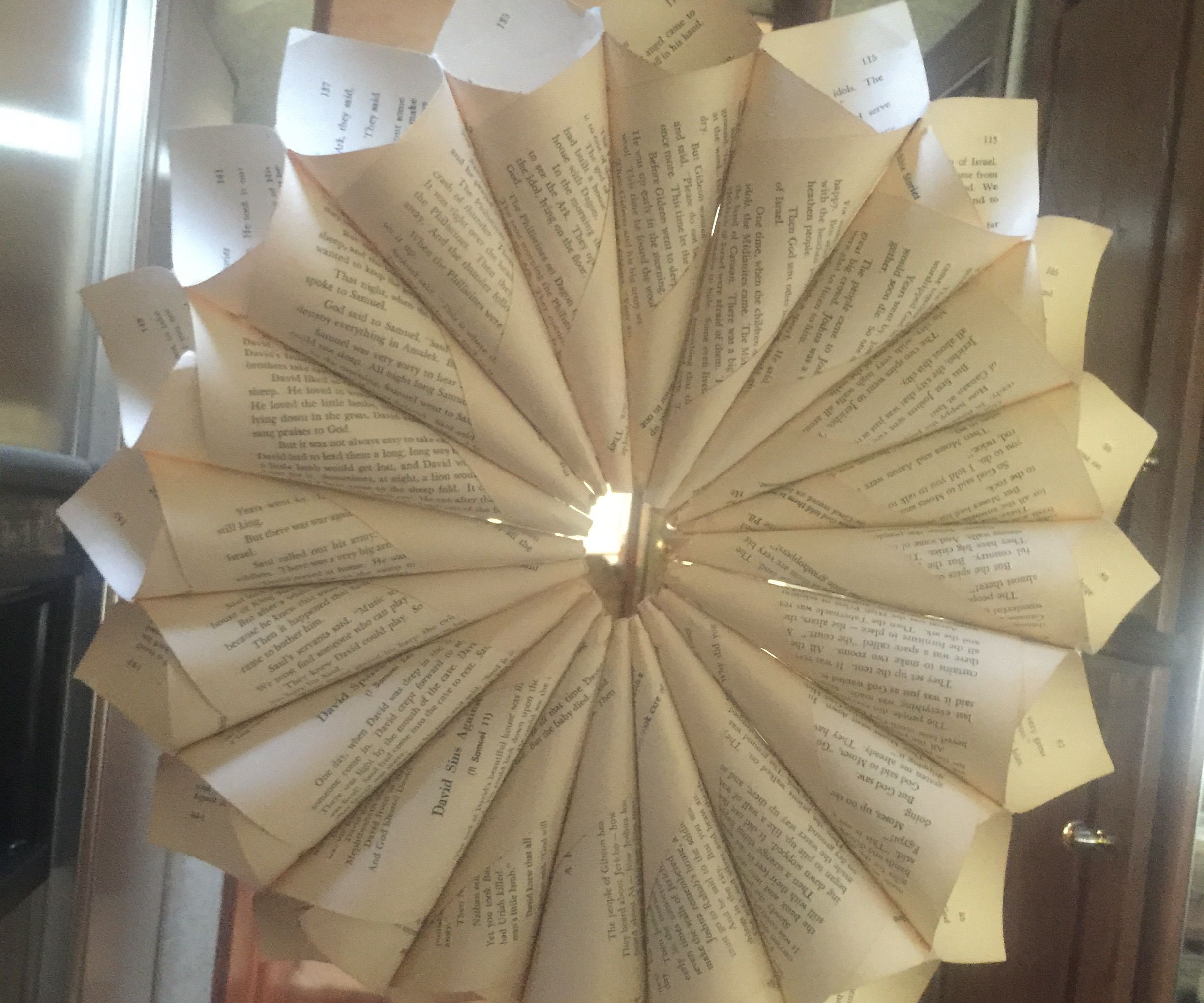 How to Make a Paper Flower Out of a Book