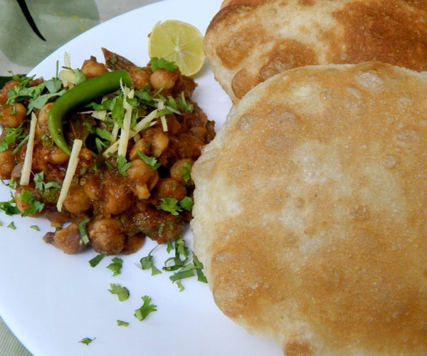 Chole Bhature- Delicious Spicy Chickpeas and Fried and Puffed Flatbread