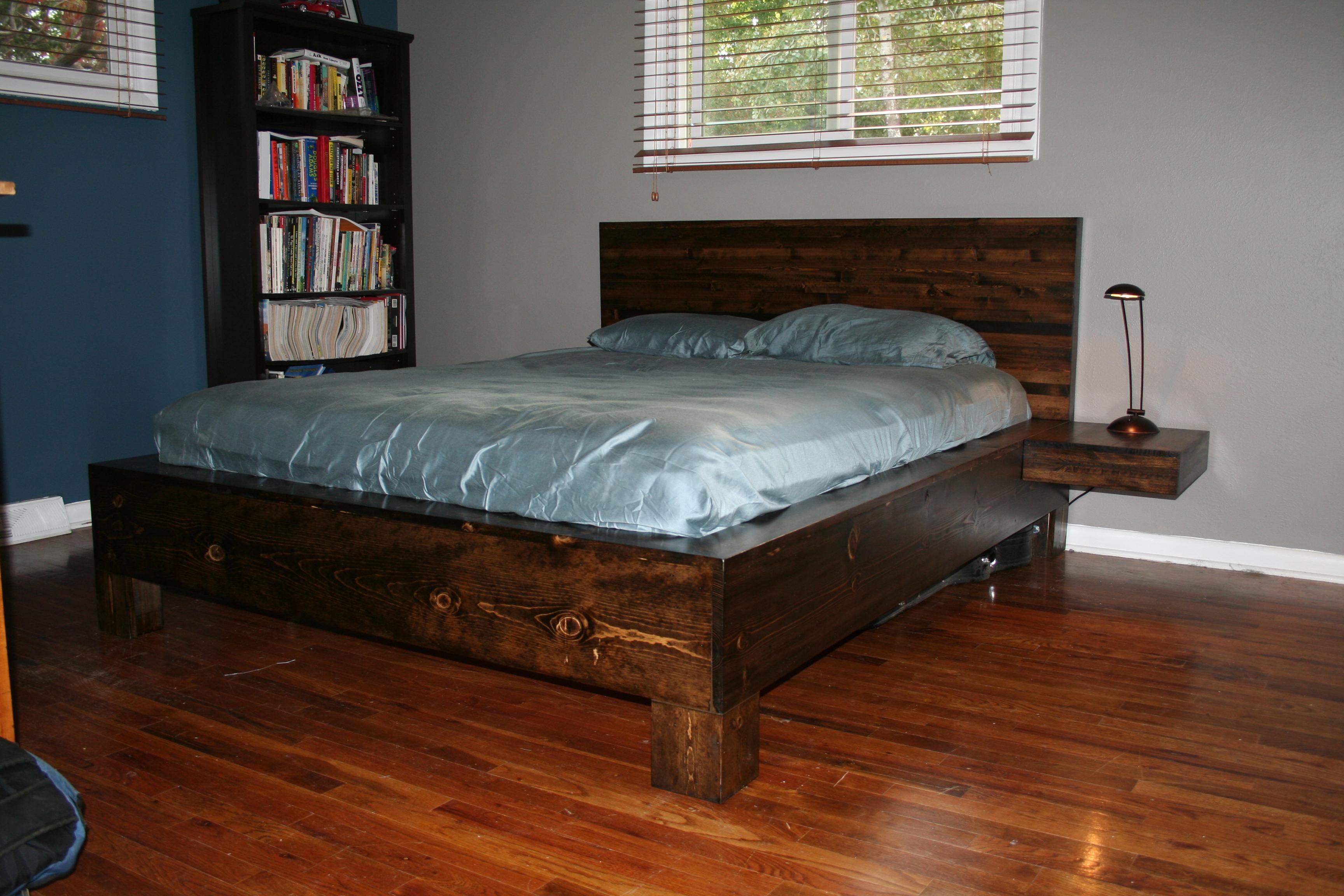 Кровать своими руками из дерева фото чертежи