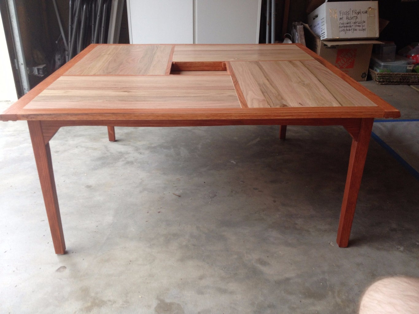 Stain and Polyurethane Table