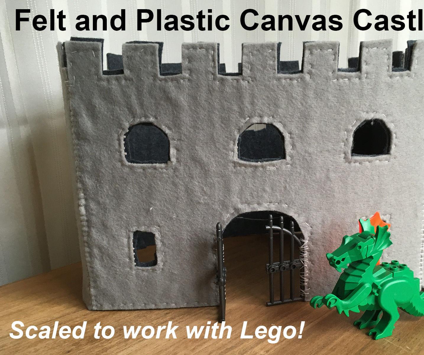 Felt and Plastic Canvas Castle