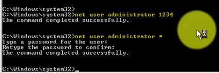 Set Administrator Password (Command Line)