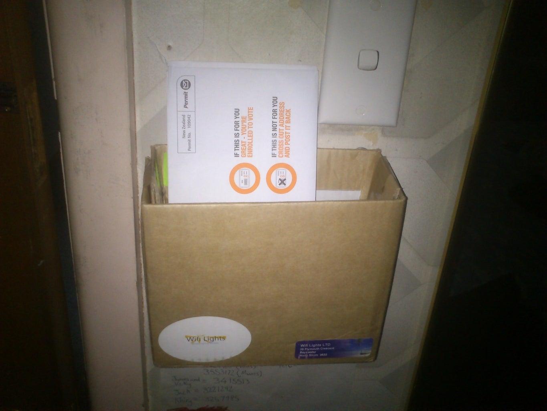 Cardboard Mail Holder