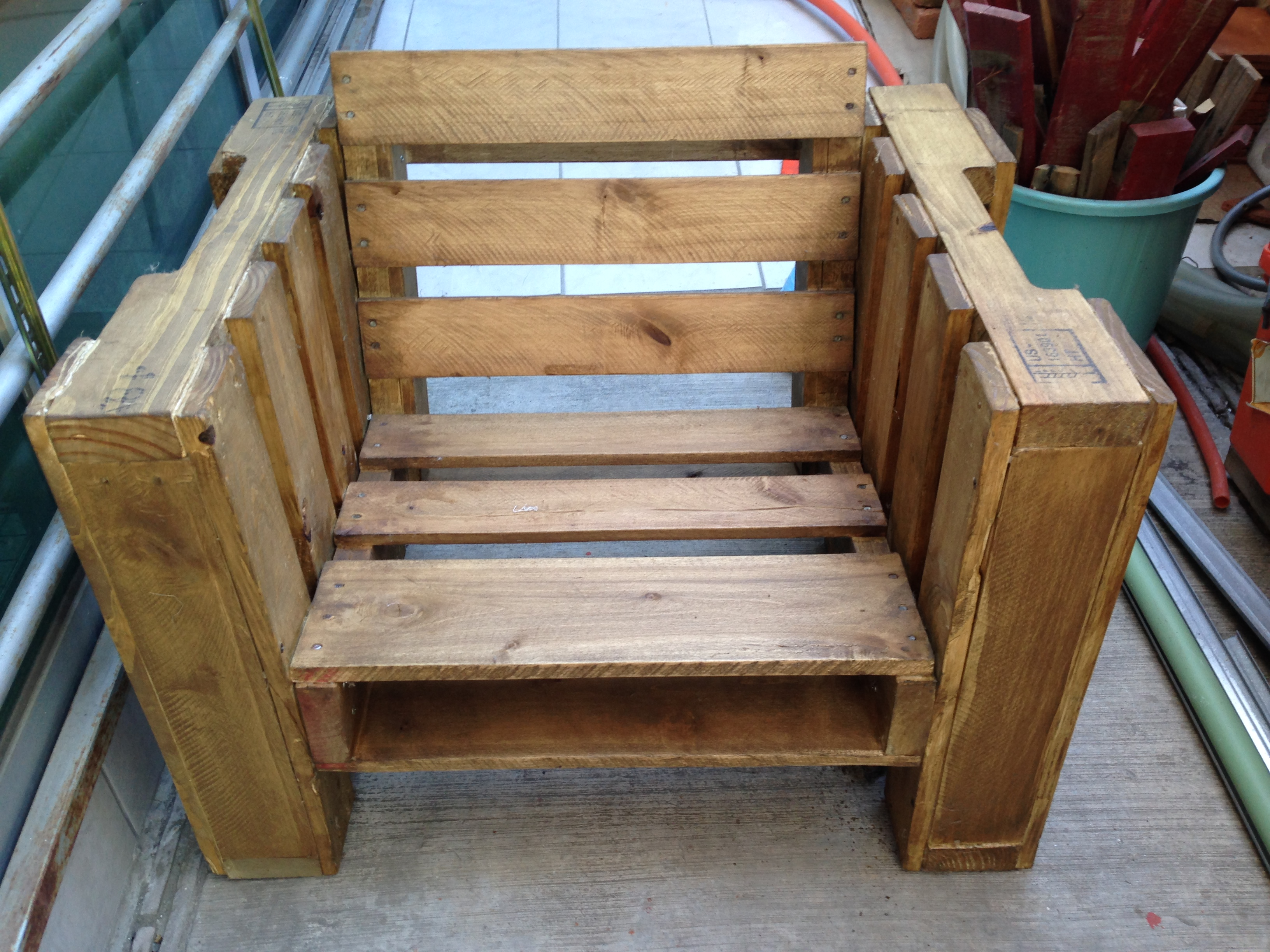 Pallet Chair 6 Steps With Pictures Instructables