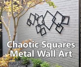 混沌方块金属墙艺术