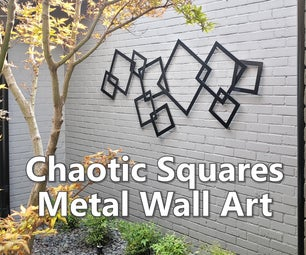 Chaotic Squares Metal Wall Art