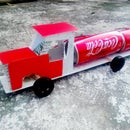 How to Make a Coca-Cola Truck With DC Motor - Simple Coca-Cola Truck