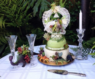 You Both Love Each Other and Dinosaurs!? Create Your Wedding Cake Jurassic Style With Succulents and Dinosaurs!!