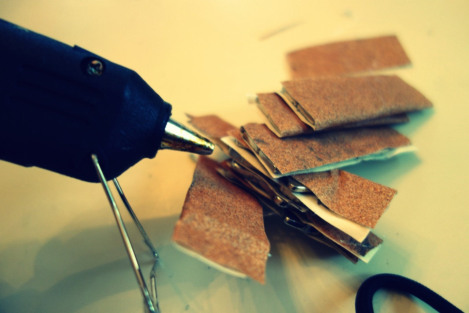 Wrap Magnets in Sandpaper and Install