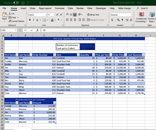 Creating a Macro in Microsoft Excel