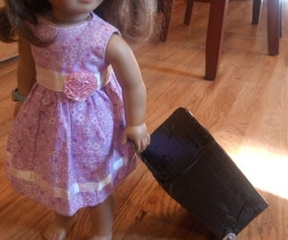 """Travel Roller Suitcase for 18"""" Doll"""