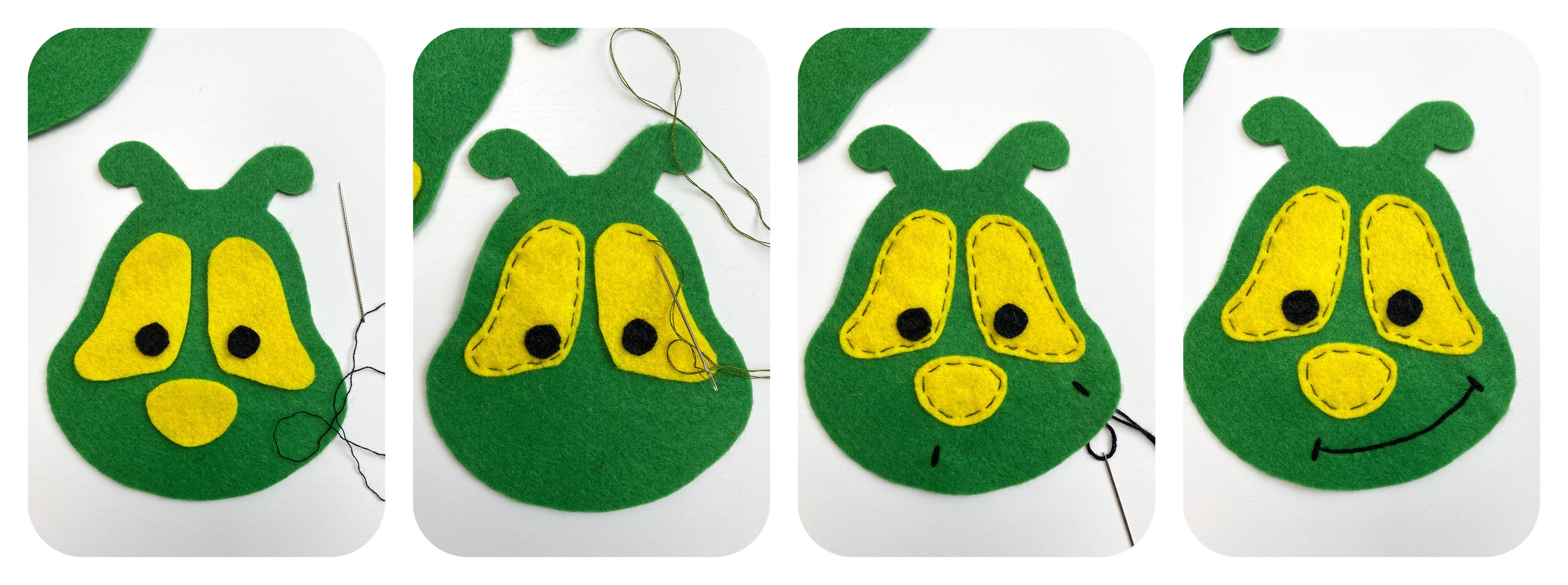 To Embroider a Face, Use Embroidery Threads or Crochet Yarn