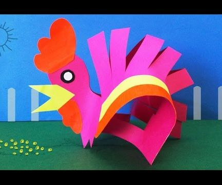 DIY Preschool Kids Activities : How to Make a Paper Hen