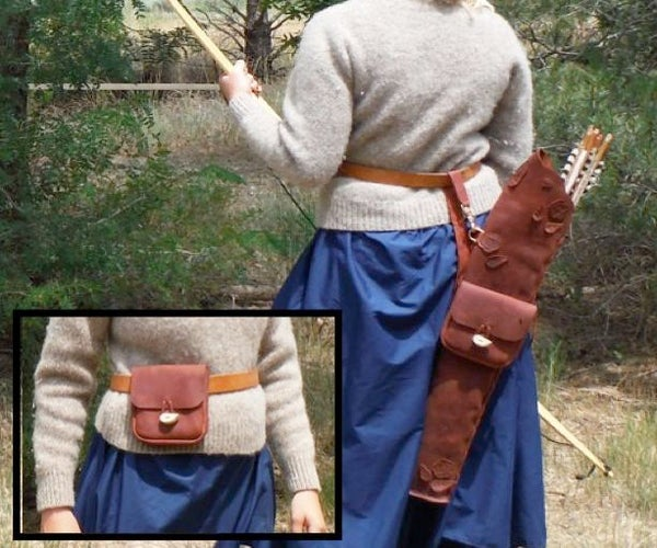 Leather Quiver and Belt Bag