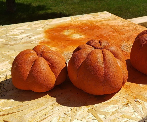 Cement Pumpkin Decorations