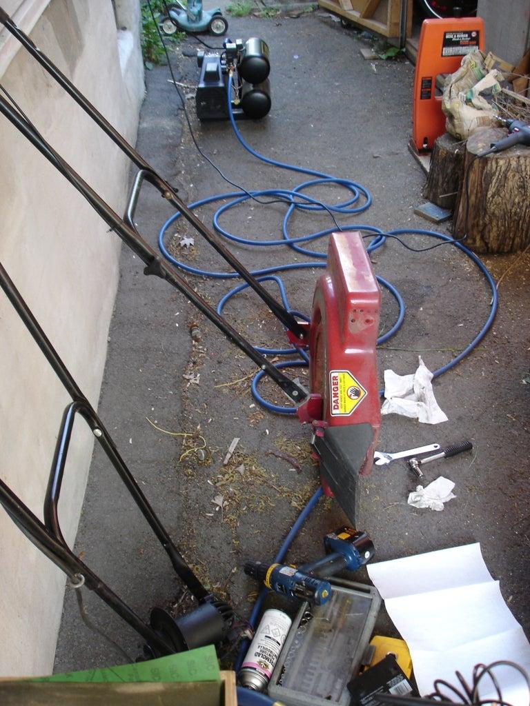 Flaming Lawnmower Paint Job