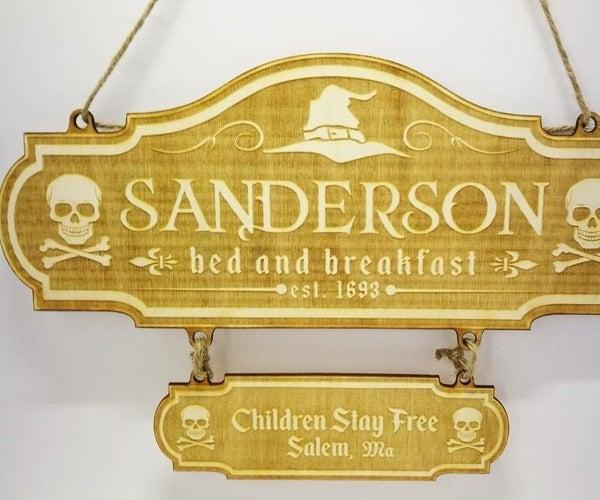 Hocus Pocus Inspired Sanderson Sign