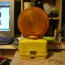 How to make a lamp out of a barricade light
