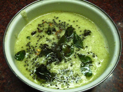 Coconut Chutney As Side With Idli and Dosai for Breakfast