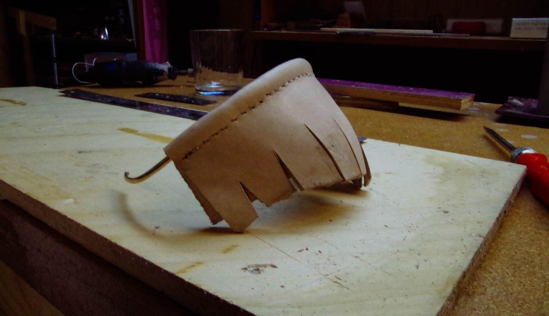 Stitch Leather Onto Brass Rod