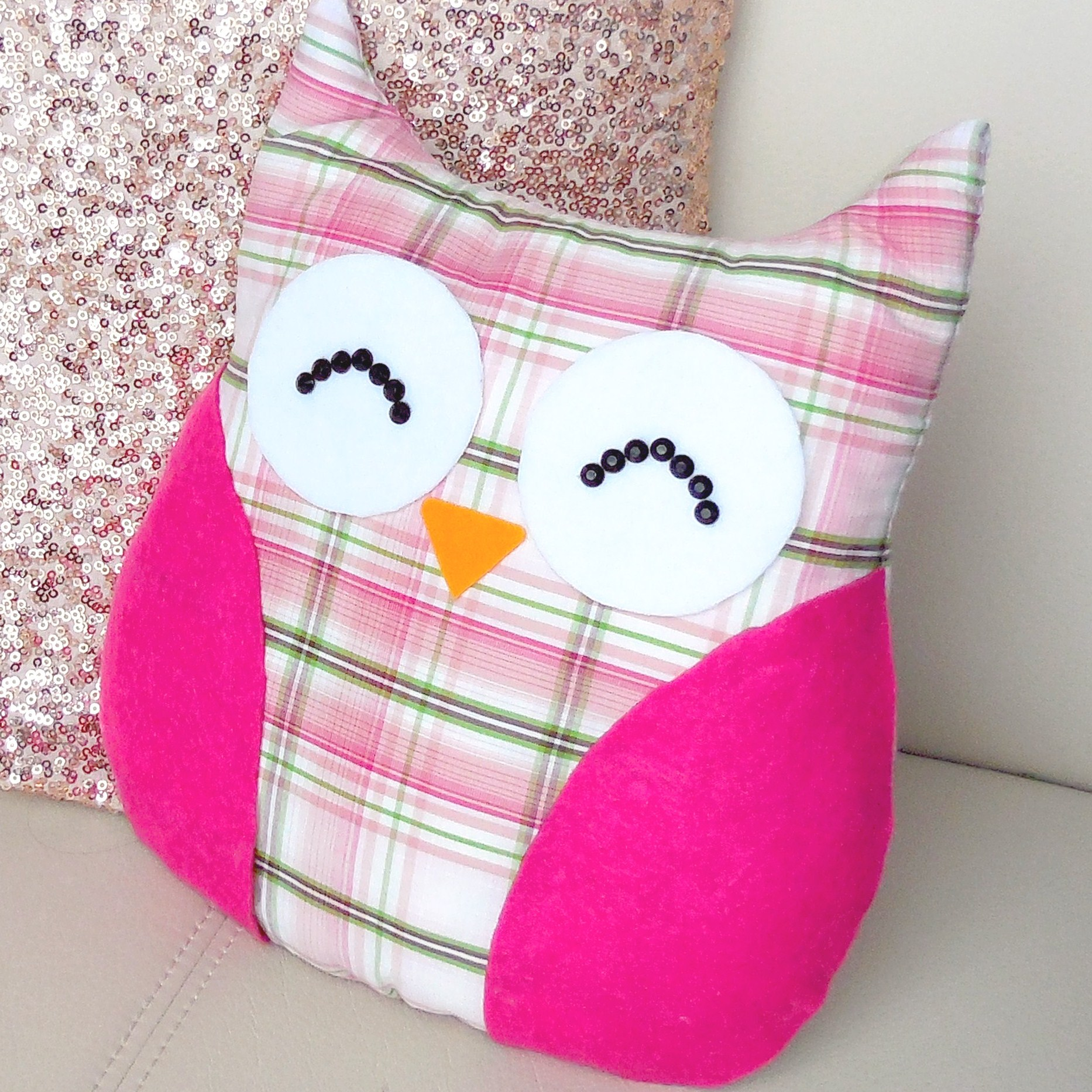 DIY ROOM DECOR ❤ Easy owl Pillow! (Sew/no sew)