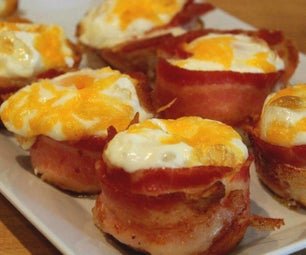 Bacon-Wrapped Eggs for Breakfast