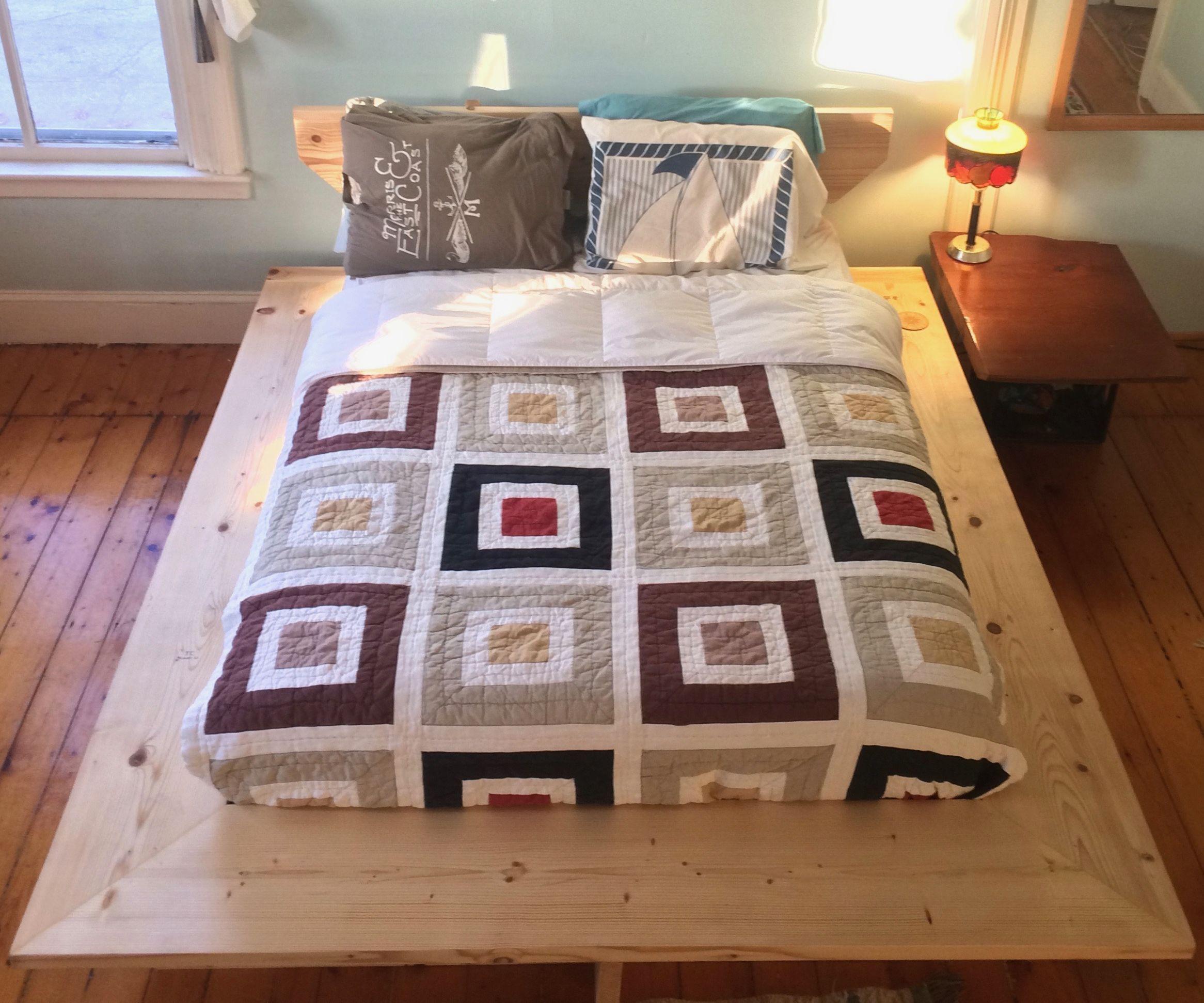 Framing Lumber Platform Bed