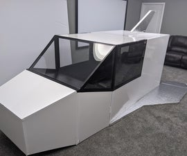 """Grandpa Steve's Space Plane - an Adult Version of a """"Refrigerator Box"""" Space Ship"""