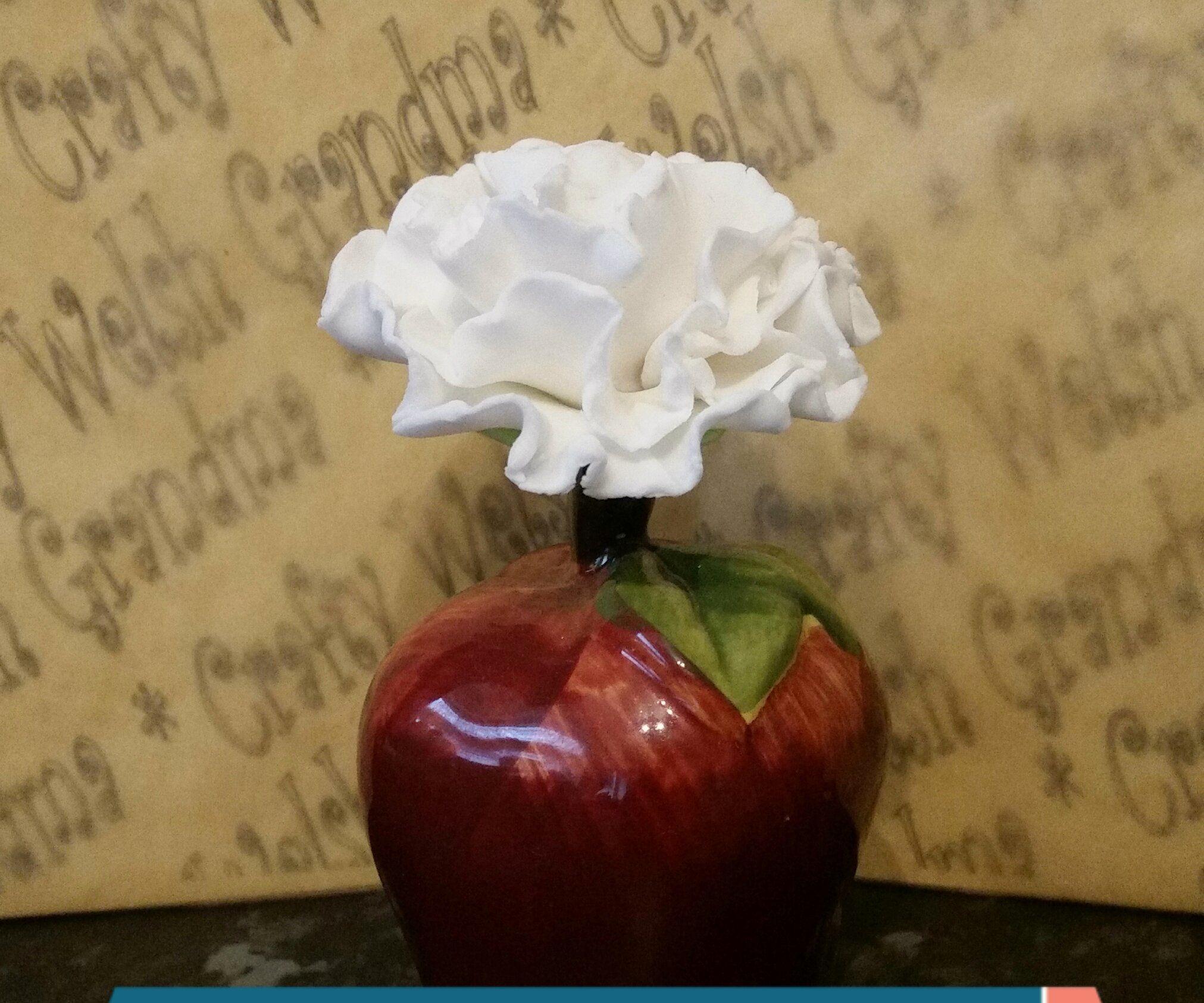 Fondant Carnation Cake Topper