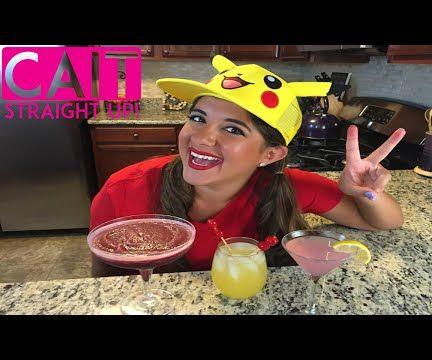 Pokemon Themed Cocktails - Pikachu Punch, Rattata-Rita and MewTini