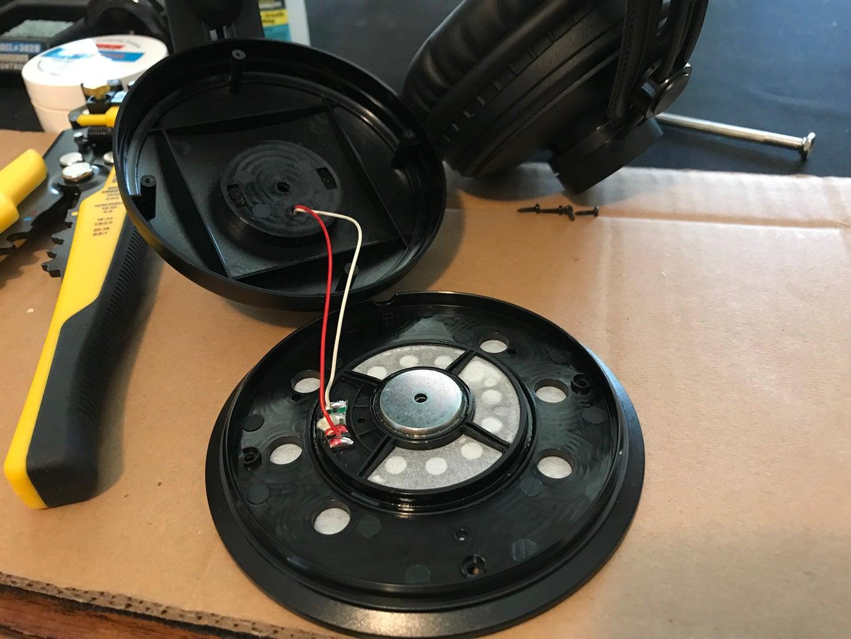 Left Speaker Removed.