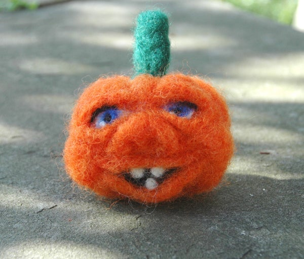 Felted Pumpkin With Personality