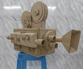 Vintage Camera - Reusing Cardboard