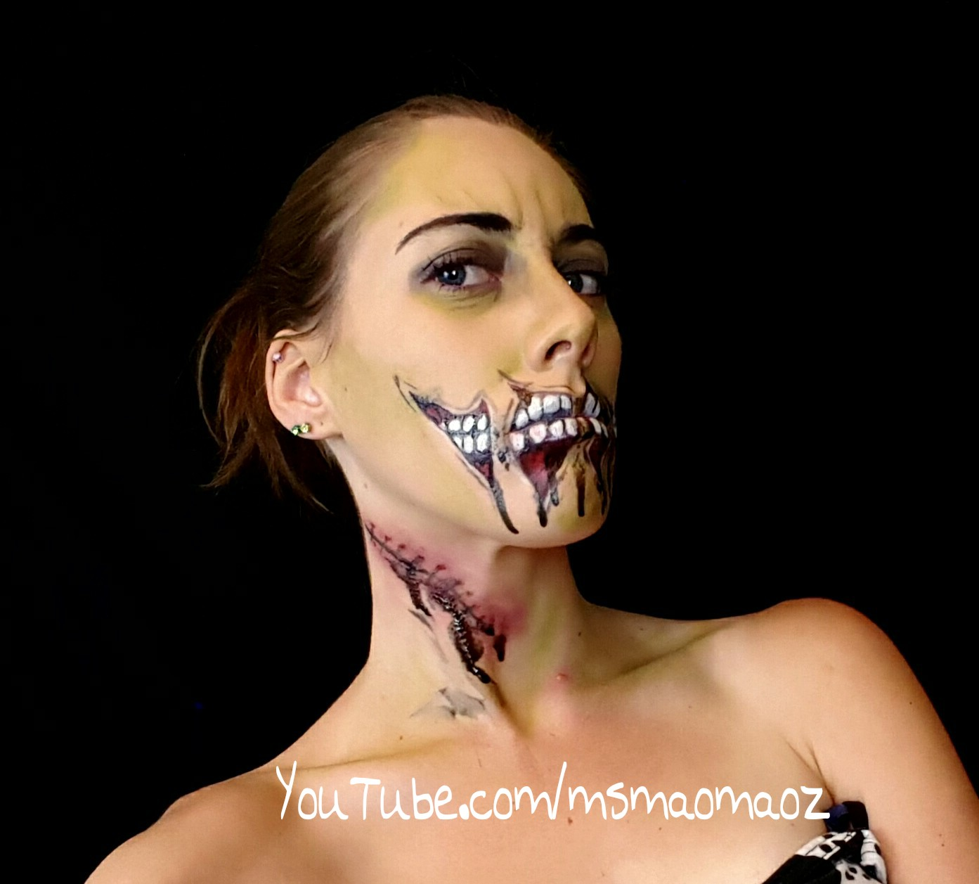 Cheap Wal-Mart Halloween makeup - zombie edition!