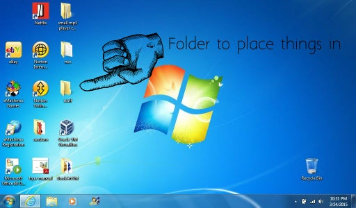 Create a Folder and Place All Desktop Icons