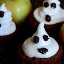 Halloween Chocolate Ghost Muffin