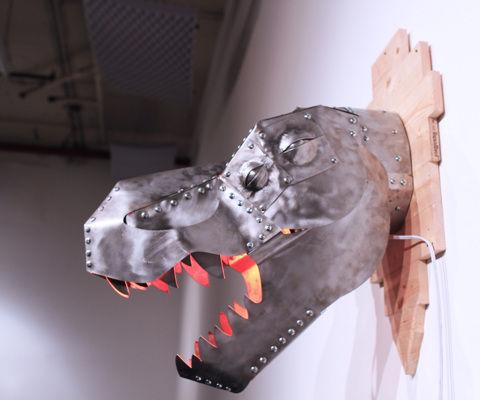 T-rex trophy heat lamp