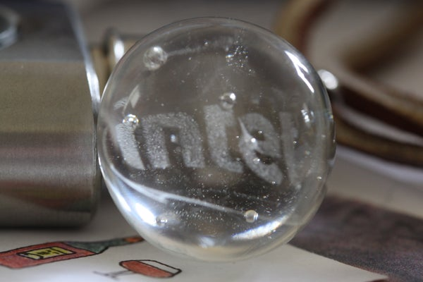 How to Make a Glass Marble With an Embedded Precision Image