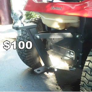 Golf Ball Trailer Hitch for Riding Lawnmowers/Lawn Tractors/ Garden Tractors