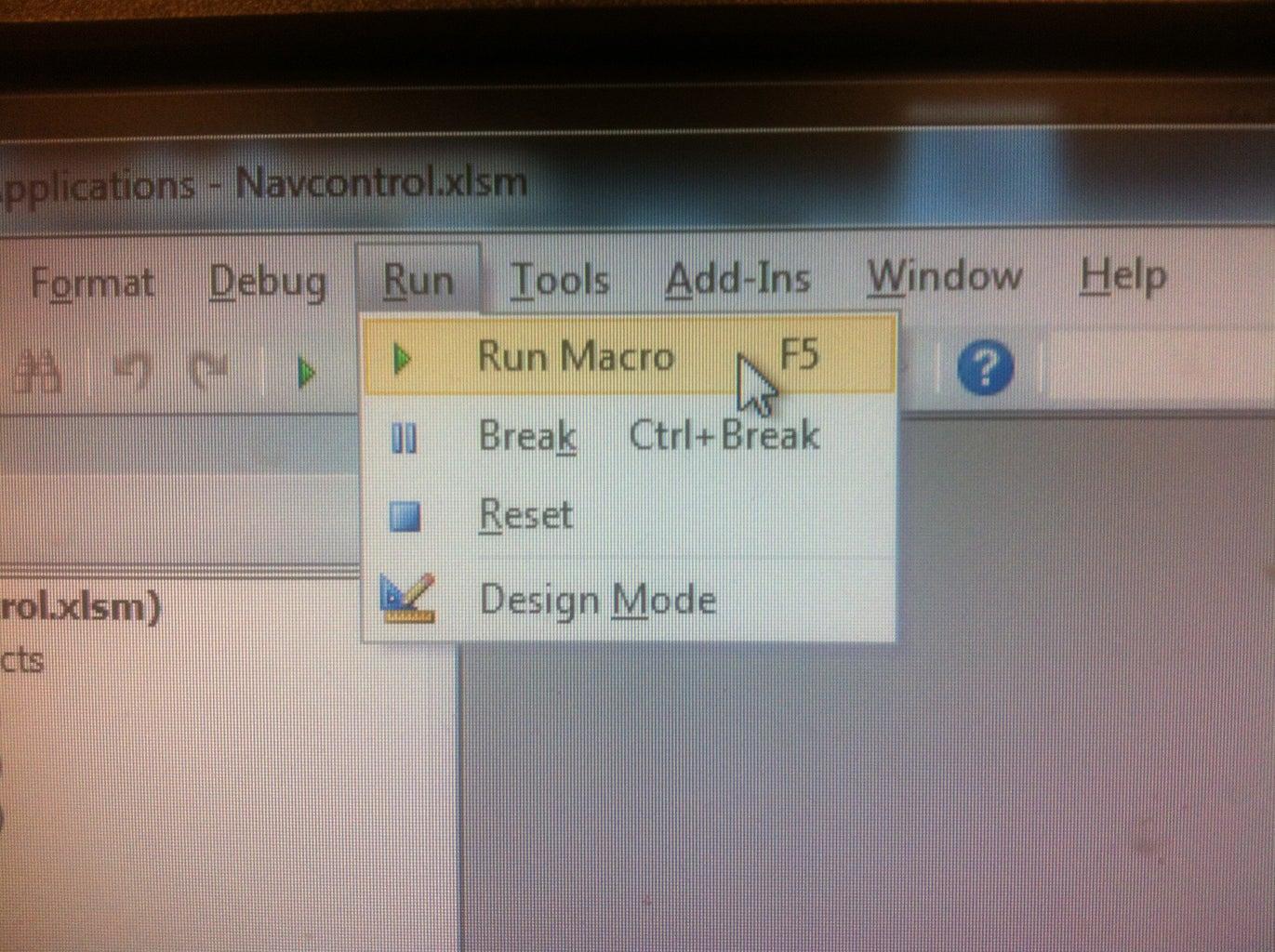 Run the Macro