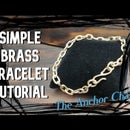 Easy Brass Bracelet, the Anchor Chain