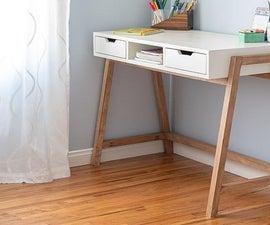 Modern DIY A-frame Desk