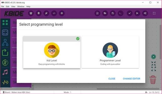 Change Mode to Programmer Level