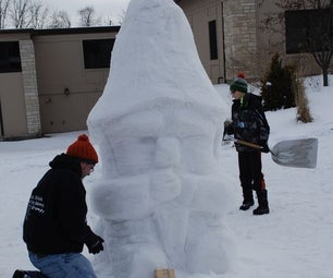 Snow Sculpture From a Box